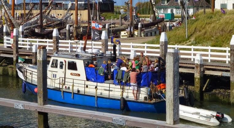 Foto binnenkomst haven Vlieland
